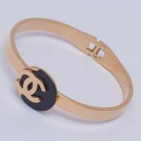 Браслет-кольцо Chanel G-24 из ювелирной стали золотистый