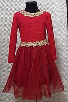 Платье детское красное ОПТОМ от производителя