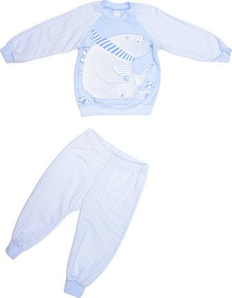 Пижама для мальчика светло-голубая размер 128 , фото 2