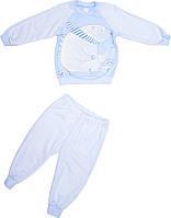 Пижама для мальчика голубая размер 86 92 122 128