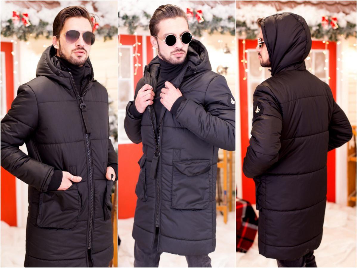 Мужское зимнее пальто на синтепоне