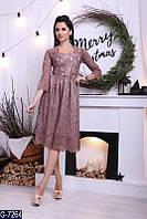 Женское платье нарядное гипюровое