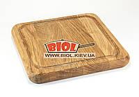 Подставка деревянная квадратная 20х20см (дуб) под чугунные порционные сковороды