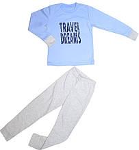 Пижама для мальчика голубая размер 122 128