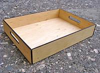 Поднос-лоток деревянный, 40х30х7см