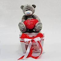 Букет из игрушек Мишка тедди с конфетами Раффаэлло