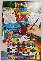 Раскраска по номерам Kids Маша и Миша PKN-01-05 Danko-Toys Украина