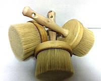 Кисть макловица круглая 100 мм деревянная с нейлоновым ворсом