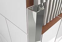 Уголок наружный для плитки (квадрат) из нержавеющей стали КН11 2.5 м