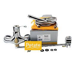 Смеситель для ванны POTATO P2215-4, фото 3