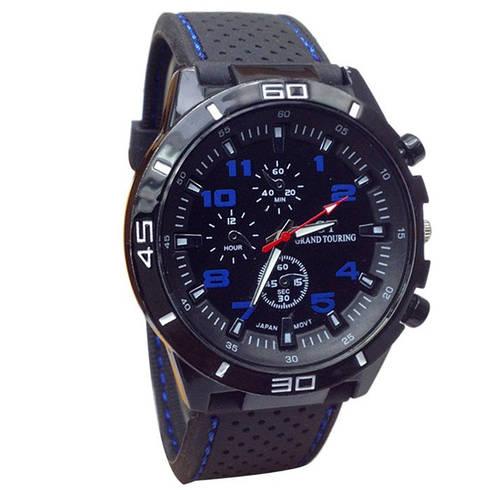 Отличные мужские часы GT с синими цифрами