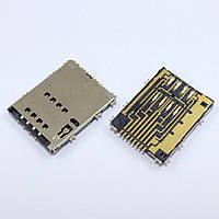 Разьем сим карты (на плате) Samsung S5250, P5100, S5750, P6800, P7500, P7510