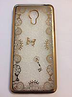 Чехол с рисунком со стразами для Meizu M3 Note