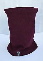 Баф бордовый, шарф на флисе shado