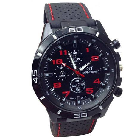 Отличные мужские часы GT с красными цифрами