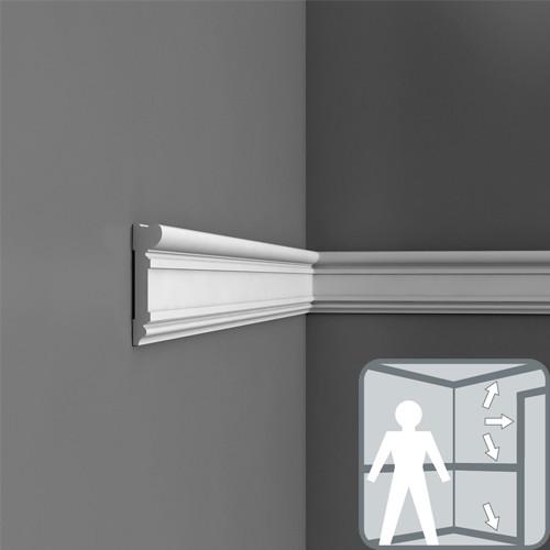 Плинтус, дверное обрамление, карниз, молдинг DX119-2300, 230 x 9.2 x 2.2 cm