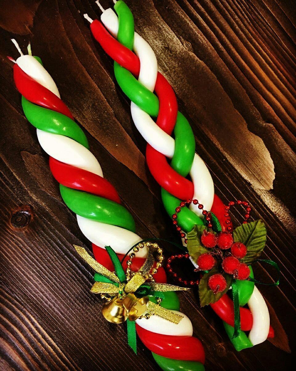 Красивые рождественские свечи