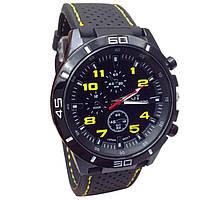Отличные мужские часы GT с желтыми цифрами
