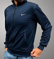 Олимпийка Nike на молнии - темно-синяя