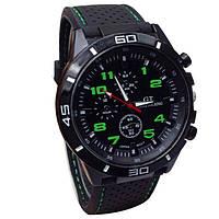 Отличные мужские часы GT с зелеными цифрами