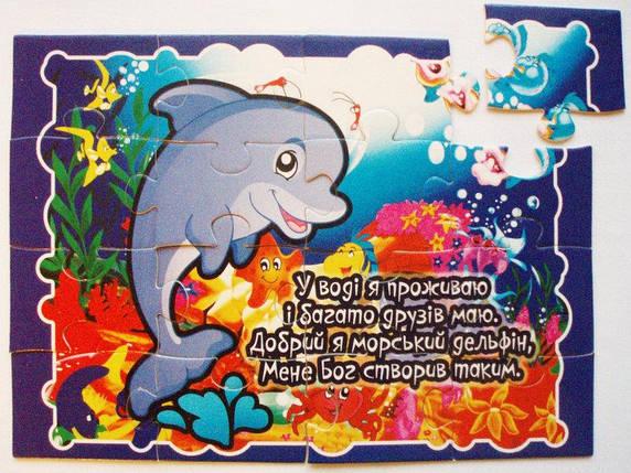 Пазли картонні «Дельфін»: «У воді я проживаю…», фото 2