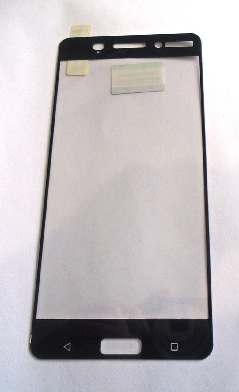Защитное стекло Nokia 6 Black 3D full Screen