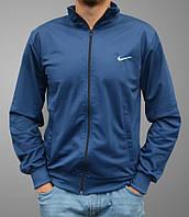 Олимпийка Nike (Найк) на молнии, Большие размеры: 50,52,54,56 - синяя