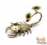 Подсвечник на 2 свечки бронзовый Скорпион