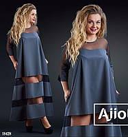 Платье макси для пышных дам - 18428
