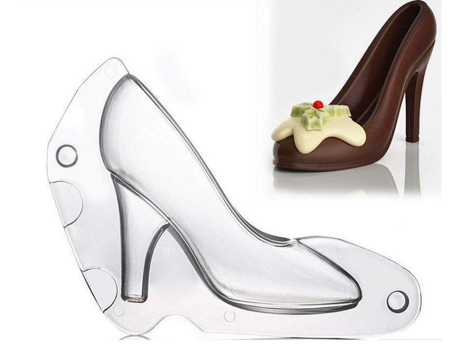 """Поликарбонатная 3D форма для шоколада """"Туфелька"""""""
