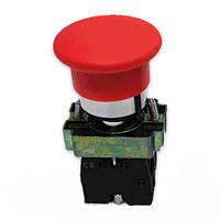 Кнопка-грибок ВС42 красная без фиксатора 40mm NO + NC Electro