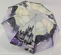 """Зонт женский полуавтомат """"города"""" с тканью полиэстер на 9 спиц от фирмы """"PASIO"""""""
