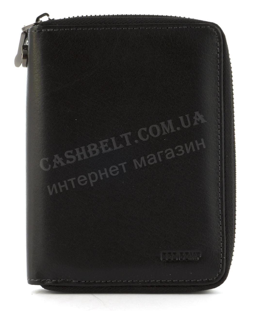 Маленька стильна міцна барсетка гаманець з натуральної високоякісної шкіри GEO COMP art. G-134B чорний
