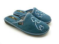 Женские тапочки СПЕСТА, голубого цвета 17-141 blue