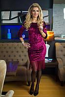 Вечернее Платье бордовый велюр, фото 1