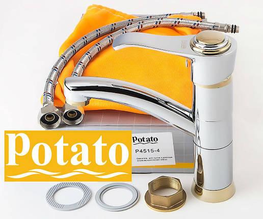 Смеситель для кухни POTATO P4515-4, фото 2