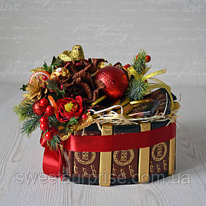"""Подарок на Новый год из конфет и шоколада """"Сердце"""", фото 2"""
