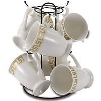 Фарфоровый набор чашек 7 пр WELLBERG WB-10158