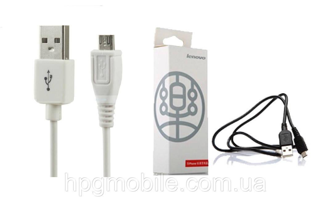 Оригинальный USB кабель для Lenovo, microUSB, белый, оригинал