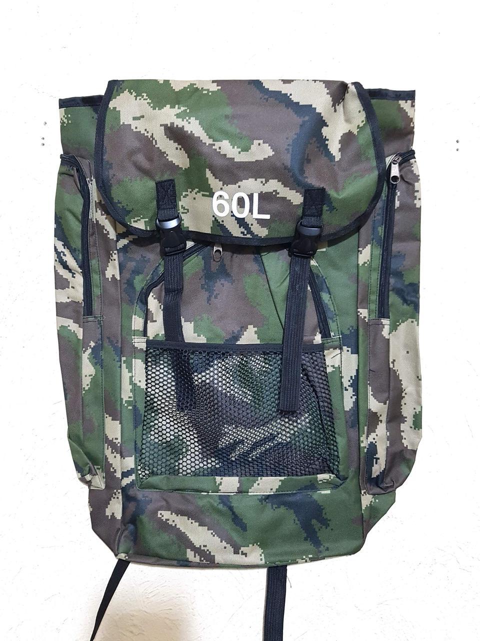 Непромокаемый рюкзак для рыбалки камуфляж, 60 л, цвет хаки
