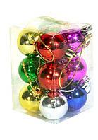 Новогодний набор шаров Малютка 12 шт 2,5 см