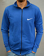 Спортивна чоловіча кофта на замку Nike - ярко-синя
