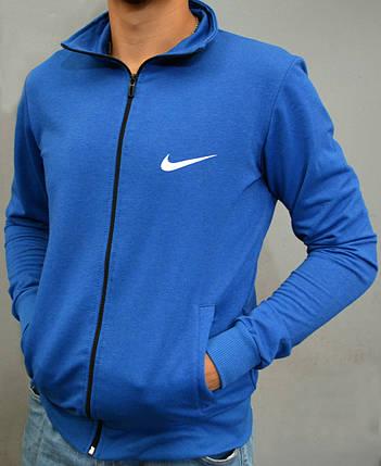 Спортивна чоловіча кофта на замку Nike - ярко-синя, фото 2