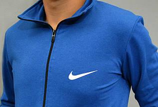 Спортивна чоловіча кофта на замку Nike - ярко-синя, фото 3