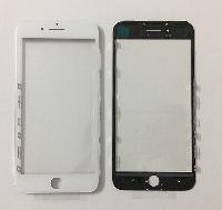Стекло для iPhone 7, белое, с рамкой, с OCA-пленкой