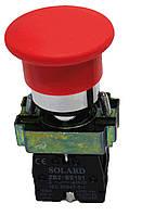 Кнопка-грибок SNP2-BC45 красная 40mm без фиксации NO + NC Solard