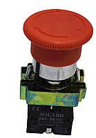 Кнопка-грибок SNP2-BS545 красная 40mm фиксируемая NO + NC Solard