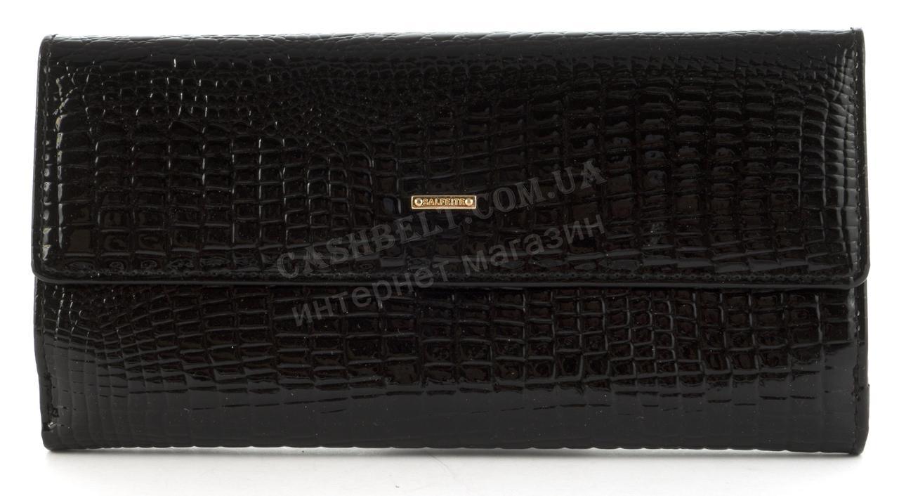 Цікавий зручний жіночий шкіряний гаманець з великою кількістю відділень SALFEITE art. 2618L-67 чорний