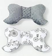 Подушка – позиционер детская ТМ BabySoon Велосипеды 32 х 24 см. цвет серый