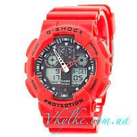 Часы Casio G-Shock GA-100 красные